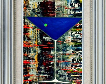 Martini painting abstract art