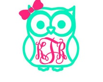 Popular items for owl monogram on etsy