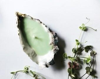 Cornish Oyster shell candle (single)