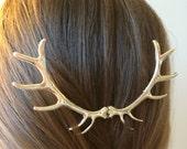 Sale Silver Antler Hair Pin Elk Antler Hair Sculpture Silver Hunting Hair Piece Woodland Wedding Costume Hair Pin Deer Hair Accessories