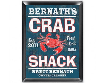 Personalized Man Cave Sign - Bar Sign - Man Cave Decor - Crab Shack