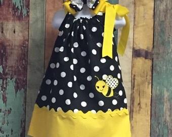 Bumble Bee Pillow Case Dress, pillowcase Dress