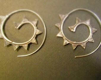Earrings spiral earrings