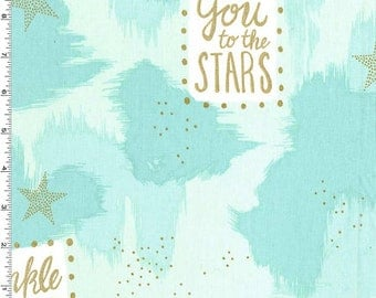 Magic - You Are Magic Fabric (Metallic) - Turquoise - sold by the 1/2 yard