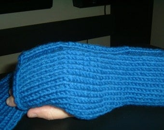 Hand-knitted Fingerless Gloves-ready to ship