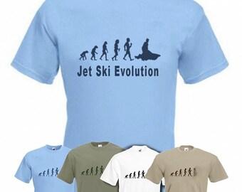 Evolution to Jetski t-shirt Funny Jet Ski T-shirt sizes S TO 2XXL