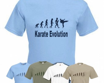 Evolution to Karate t-shirt Funny Martial Art  T-shirt sizes S TO 2XXL