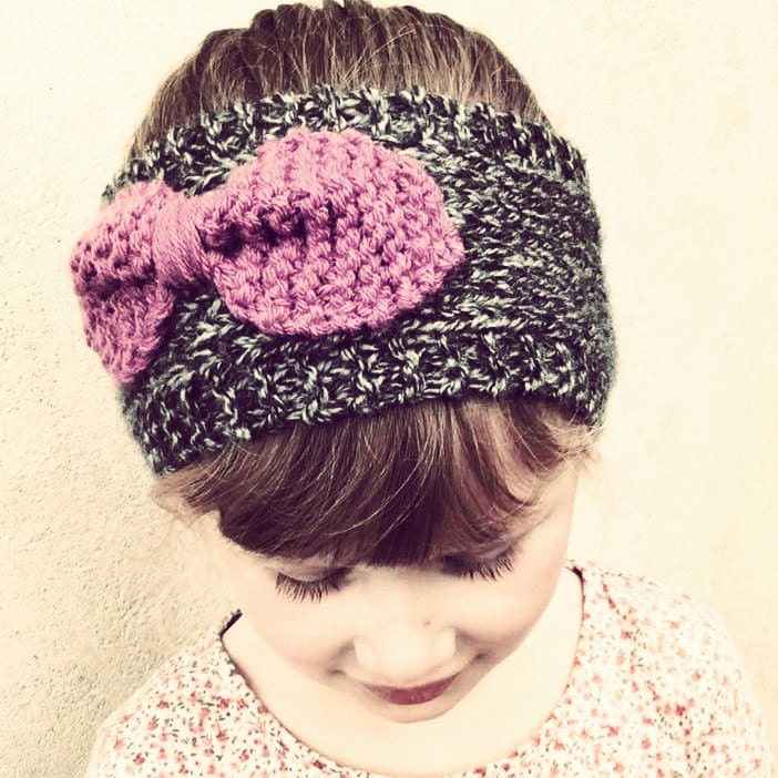 Bow Headband Ear Warmer Knitting Pattern Knitted Ear Warmer