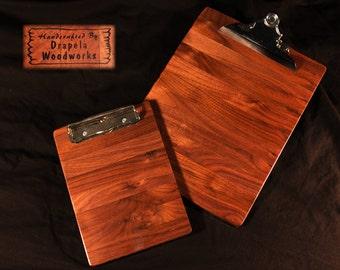 Walnut Wood Clipboard Set, Clipboard set, wood clipboard set, wooden clipboards, walnut,