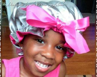 Satin bonnet; Hair Bonnet; Satin Bonnet; Reversible Hair Bonnet; Reversible Satin  Hair Bonnet; Girls Bonnet; Toddler Bonnet; Gift for her