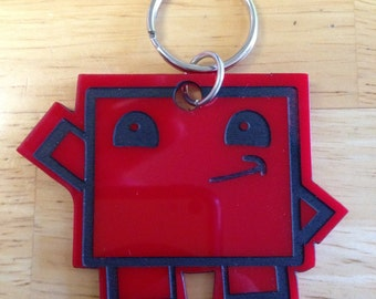 Hand Painted Acrylic Keychain inspired by Super Meat Boy