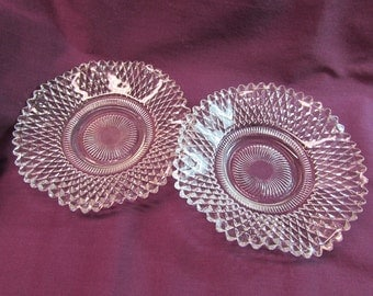 Indiana Glass Diamond Point Small Candy Dishes, Set of two (2)