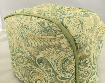 Green Paisley 2 Slice Toaster Cover