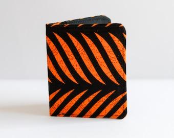Slim Wallet - Thin Wallet - Black Wallet - Bi-fold Wallet - Striped Wallet - Business Card Holder - Black Wallet - Card Holder - Wallet
