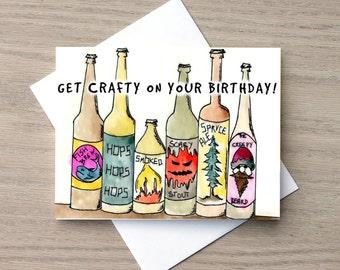 Birthday Card, Funny Birthday Card, Beer Card, Craft Beer Card, Friendship Card, Drinking Card