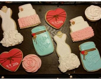 bridal shower/wedding sugar cookies