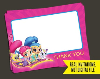 Shimmer and Shine Thank You Notes - Shimmer and Shine - Thank You