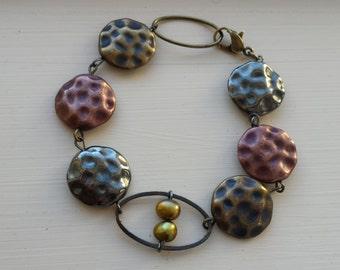 Metallic Lentil Bracelet