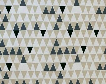 Brown roman shade | brown roman blind | Geometric print roman shade  | Triangle print Roman Shade | roman shade | custom roman shade