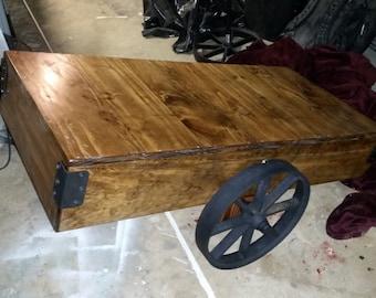 Rail Cart Coffee Table