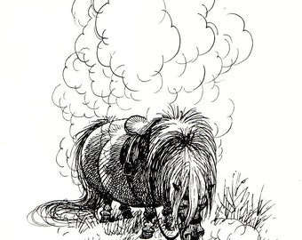 1970 thelwell horse print