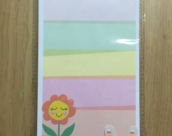 Spring List Pad Magnetic - Flower