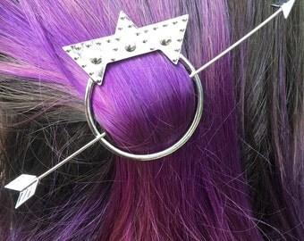 Silver Arrow Hair Pin