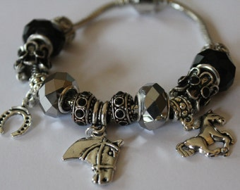 Horse lovers charm bracelet - gift