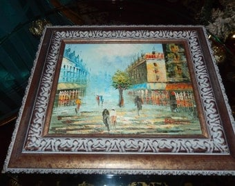 FRANCE ORIGINAL PAINTING by Barnett