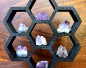 DIY Sacred Geometry Honeycomb Cube Grid Display - Crystal Display - Crystal Grid - Laser Cut Wood - Item Number LT40031