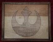 Star Wars Rebel Alliance Wooden Inlay Wall Art