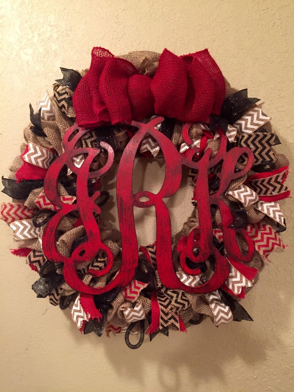 monogram wreath personalized wreath monogram front door