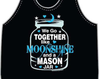 Moonshine and a Mason Jar Tank Top