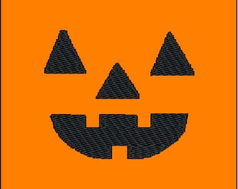 Halloween Jackolantern Pumpkin Face Embroidery Pattern Design