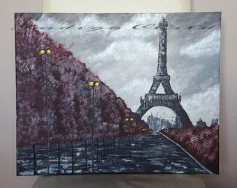 Art Painting Rainy Paris Painting Picture