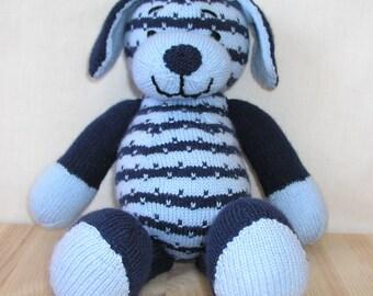Hand knitted dog, handmade toy, teddy, bear, baby, gift, stuffed animal, ready to ship