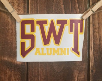 SWT Alumni decal