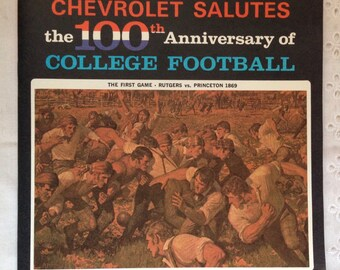 "Chevrolet Salutes the 100th Anniversary of College Football (O. J. Simpson) 7"" Vinyl Record 1969"