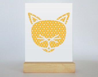 Cat Cut Paper Silhouette