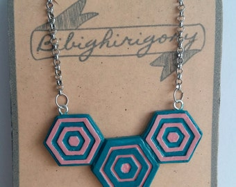 Necklace geometric minimal geometric hexagon