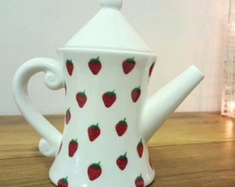 English Teapot Tea For One Hand Painted Ceramic Teapot Tea Lover Personalised Gift
