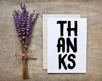 """Thank you card  - """"THANKS"""""""