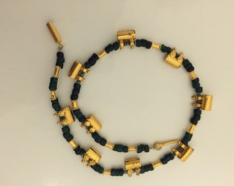 Vintage Necklace, Egyptian Revival Jewellary .