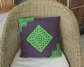 cushion decorative application crochet cushion