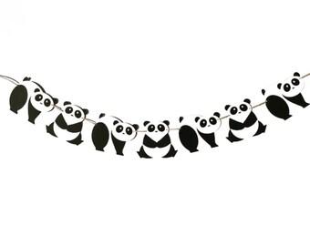 Panda Garland | Panda Banner | Panda Decoration | Panda Decor | Panda Party