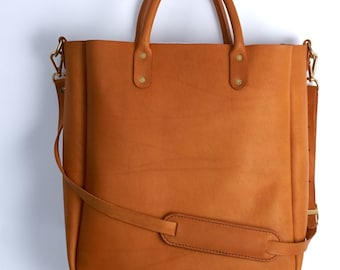 The Tote - custom built Horween Leather Bag