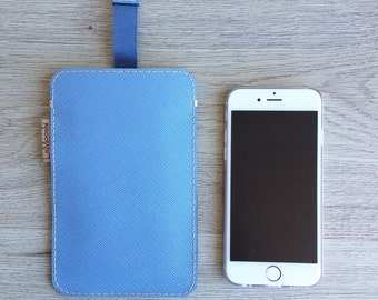 Leather case with removable tab for iPhone 6 6s Galaxy S5