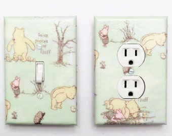 Classic Winnie the Pooh Light Switchplate Outlet Cover