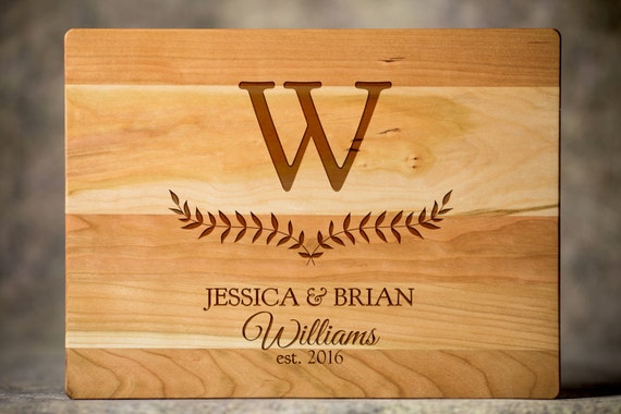 personalized cutting board monogrammed wood by eventcitydesign, Kitchen design