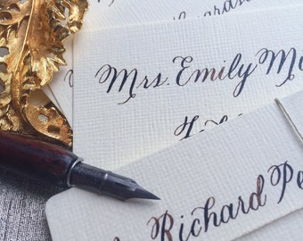 The Rustic Script Place Cards